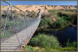 The rope bridge over Nachal Bsor