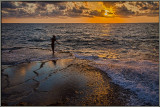 Golden sunset at Achziv