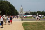 Crowd begins to arrive