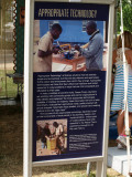 One of the Peace Corp exhibits