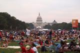 Colorful crowd scene