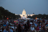 The crowd waits for the fireworks