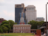 Congress Hall with steeple being fixed