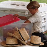 Selling straw hats