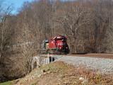 CSX train approaches