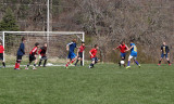 Action in front of the goal