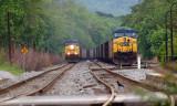 The coal train pulling into Brunswick