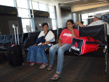Waiting for the first flight from Dulles
