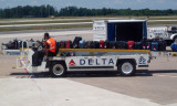 Bags being moved for loading