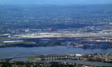 Bayonne bridge and section of Newark Airport