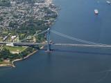 Staten Island end of the Verazzano Narrows bridge