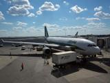 Alitalia A330 at gate at JFK