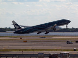 Cathay Pacific B777 at takeoff