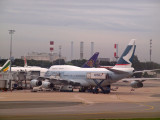 On the ground at Charles de Gaulle airport