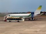 Aircraft on tarmac