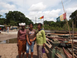 The girls by the boats