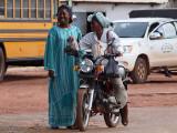Lady on a motorbike