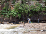Calmer scene upstream where the rivers meet