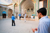 Volleyball in the madrassa - Shiraz