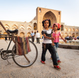 Two girls and a bicycle - Esfahan