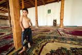 Boy in main mosque - Gharm