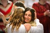 Bride embracing