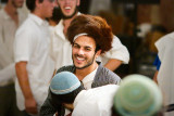 Groom with the Rabbi's hat