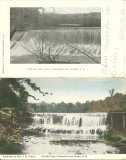 Two Views - Old Mill Dam - Gilmanton Iron Works, NH