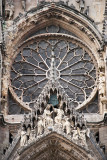 Above central doorway on west front of Reims Cathedral