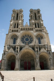 Laon Cathedral western facade and entrance