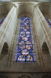 Stained glass window at Laon Cathedral