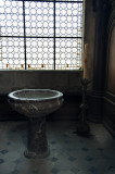 Font at Abbaye St Martin in Laon