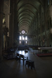 Nave of Basilique St Remi from near the high altar