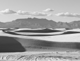 White Sands National Monument -- shot as a jpeg in monochrome mode and developed in Lightroom/Photoshop