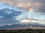 View to Organ Mountains across Mesilla Valley after the rain