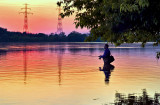 Sunset on Vistula River