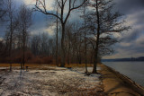 Schodack Island State Park Snow in HDRFebruary 11, 2012