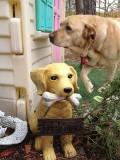 Glinda and Ceramic DogApril 24, 2012