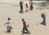 Collecting cargo in Mboromole village