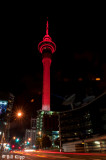 Auckland Sky Tower  with Memorial Lights  1