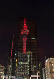 Auckland Sky Tower  with Memorial Lights  3