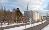 Bostadsområdet Kista Gård vid Hanstavägen växer