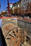 Vitosha Boulevard -building a new subway-