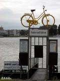 Fahrradfähre von Walluf über den Rhein