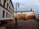 Schlossplatz mit Rathaus
