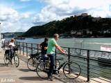 Radfahren am Rhein
