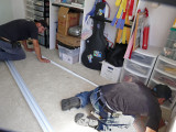 Installing Closet tracks