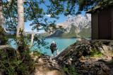 Cindy At Lake Miniwanka, Banff National Park
