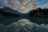 Cloudy Dawn At Emerald Lake