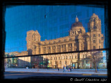 Reflections by day of the port of Liverpool building